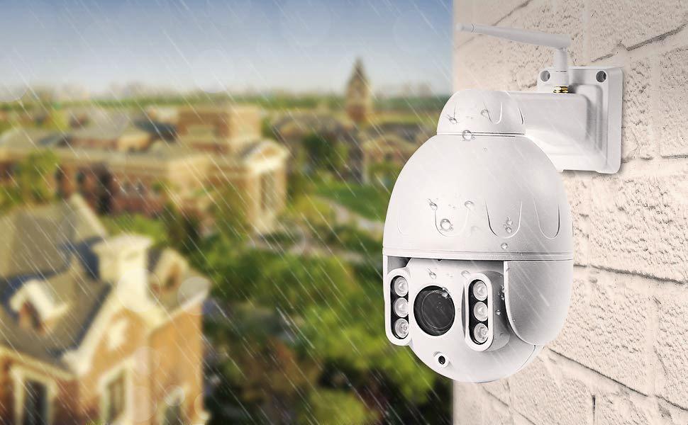 weiße 5x Zoom 1080p wireless ptz Kamera