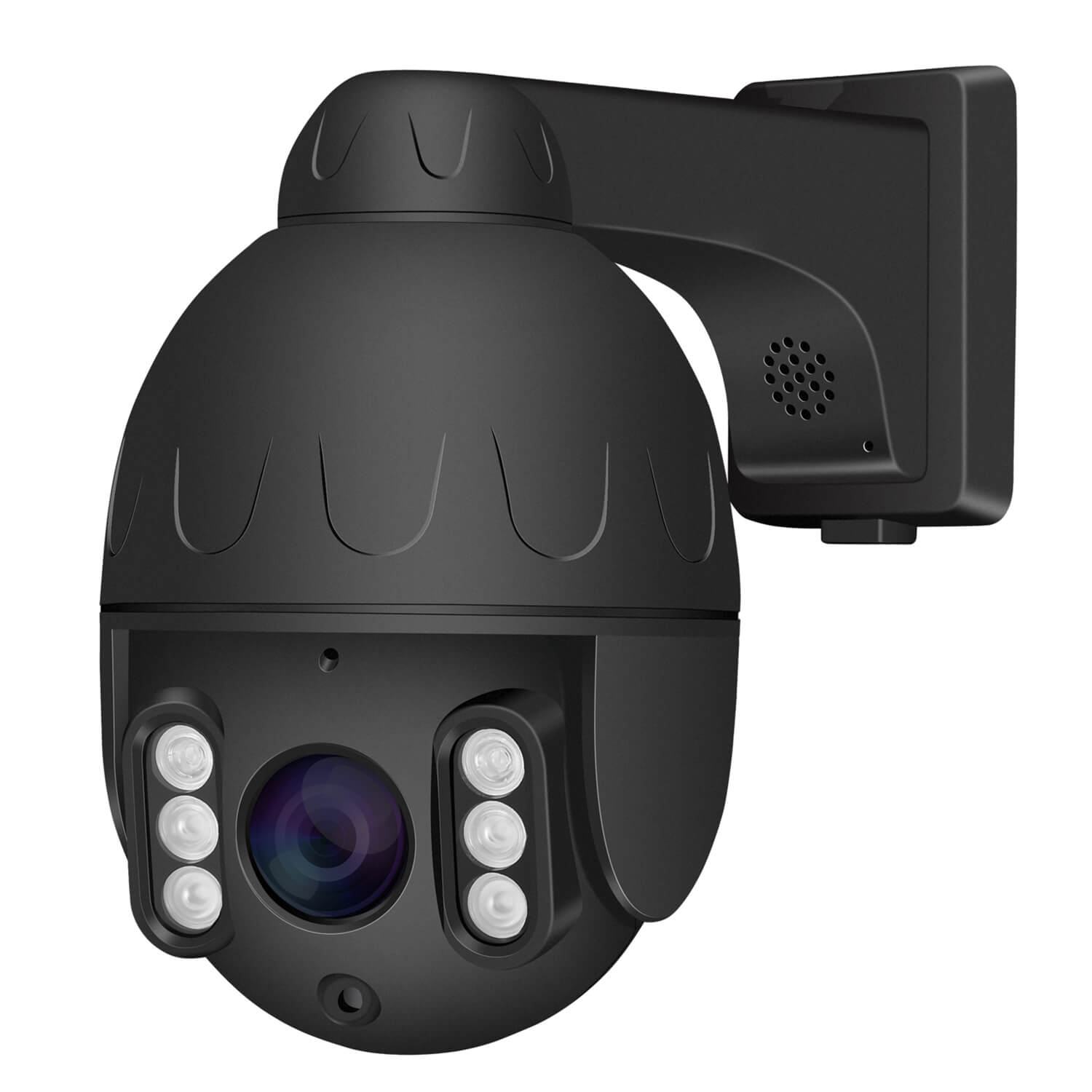 Black PTZ POE IP Security Dome Camera with 5X Optical Zoom